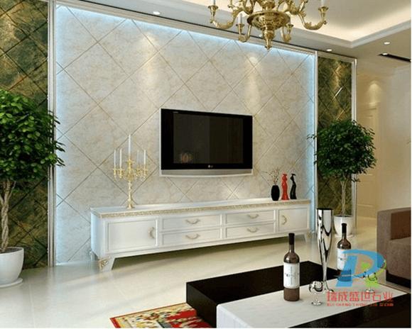 石材背景墙装修效果图|欧式石材背景墙效果图|对称轴