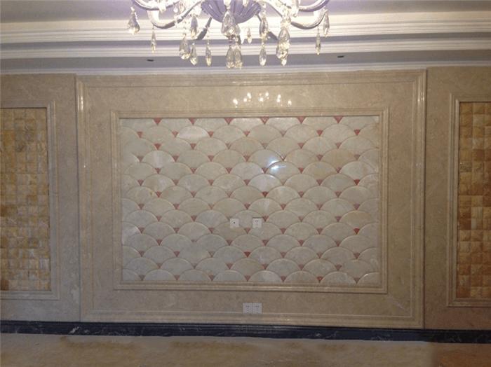 奢华玉石背景墙|玉石背景墙案例图片|豪华欧式玉石墙