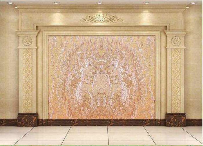 石材电视背景墙|背景墙设计|背景墙装修效果图|背景