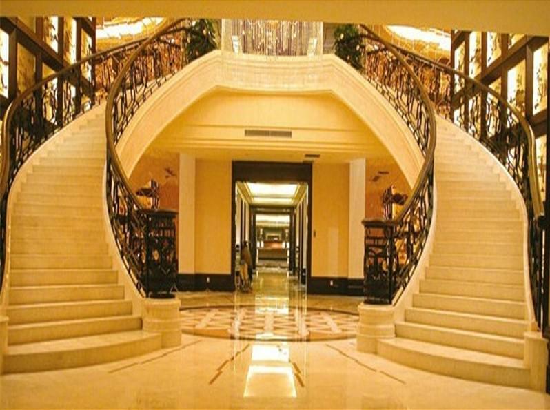 大理石楼梯踏步设计图|简约时尚大理石楼梯踏步|简欧