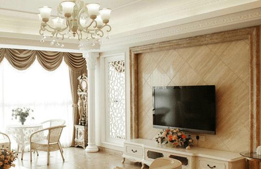 石材背景墙价格|欧式石材电视背景墙|客厅背景墙|瑞