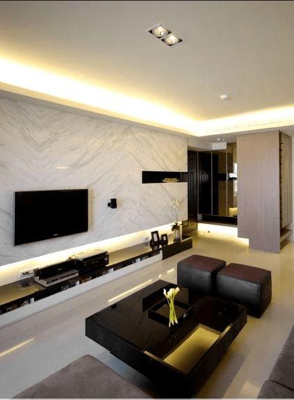 最流行电视背景墙|简约客厅背景墙|大理石电视墙|瑞成