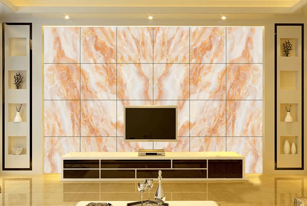 最流行电视背景墙|简约客厅背景墙|大理石电视墙|瑞