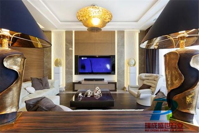 客厅石材背景墙|大理石电视背景墙|家庭客厅电视背景