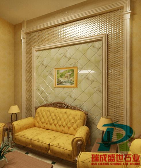马赛克石材背景墙,打造属于你自己的居室空间