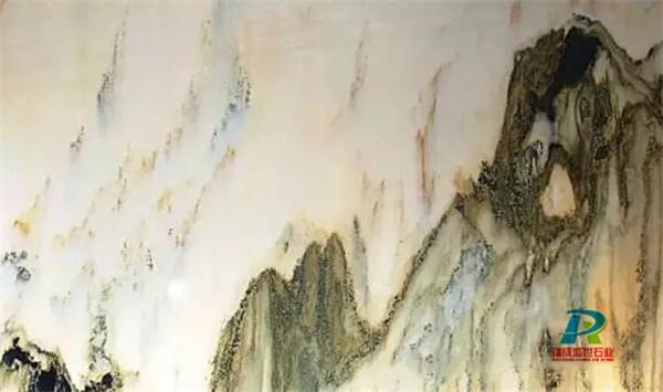 大理石山水画