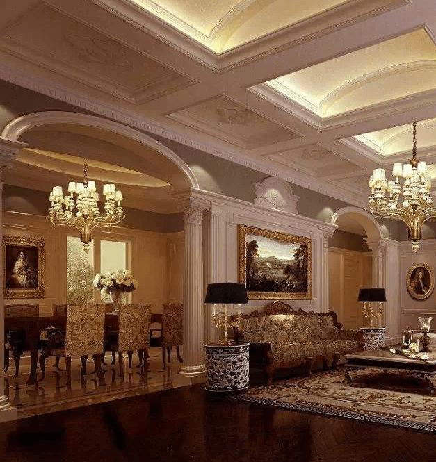 大理石欧式室内装修效果图大全图片