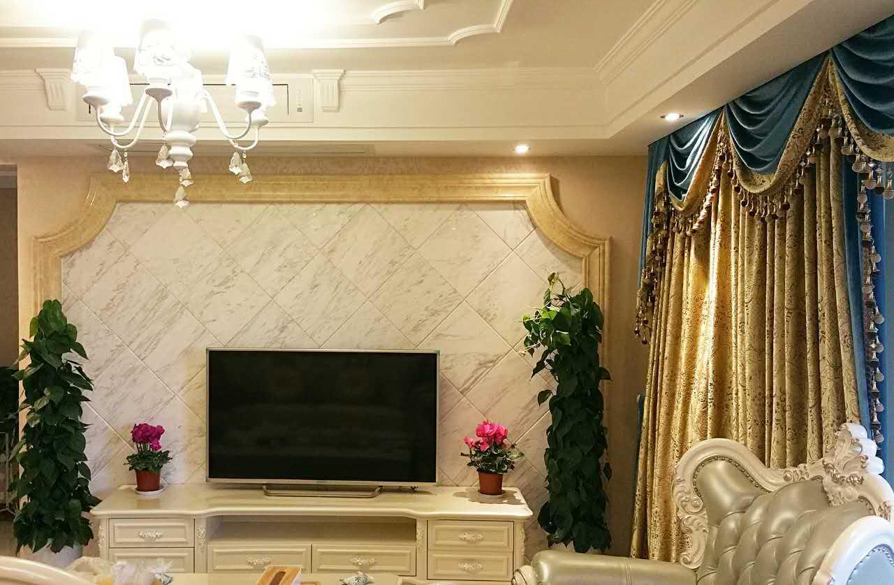 爵士白客厅电视背景墙 爵士白客厅大理石背景墙 爵士白电视墙