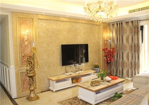 石膏线条电视墙造型_石材线条电视墙效果图_装修图库