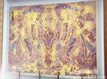 眉飞色舞玉石背景墙画