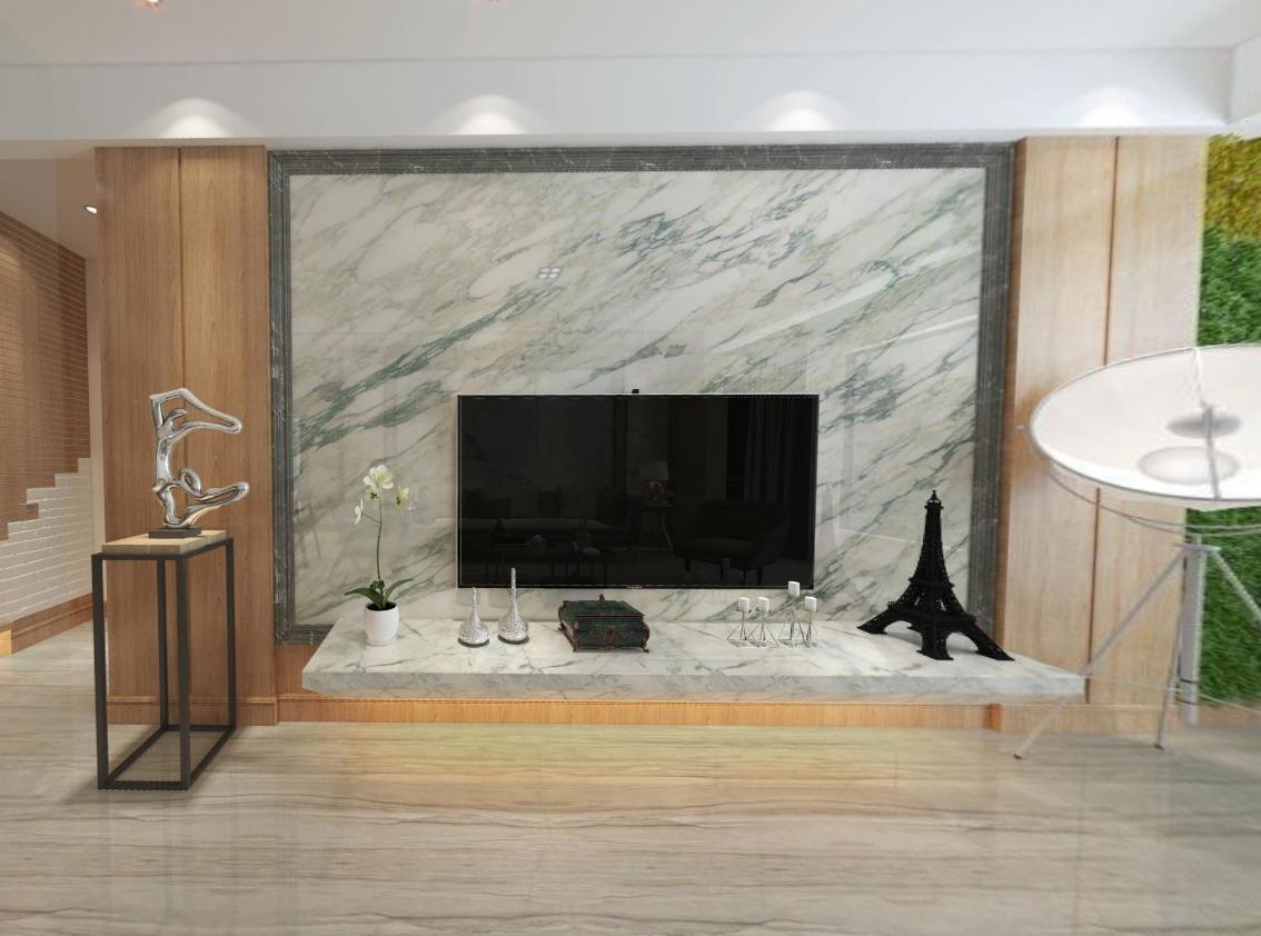 现代客厅3x2m