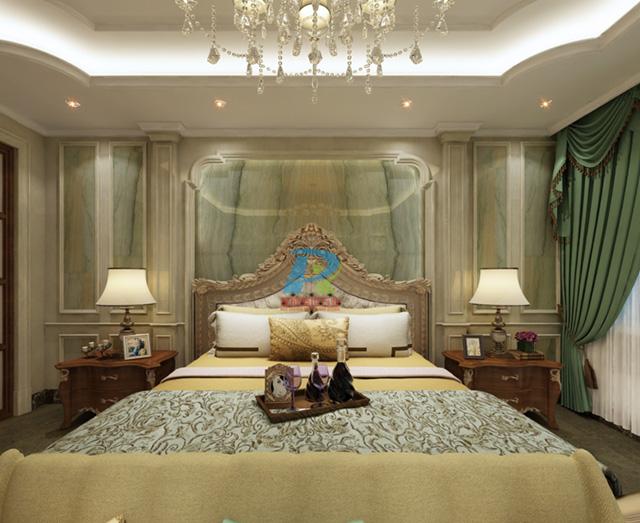 卧室大理石背景墙3