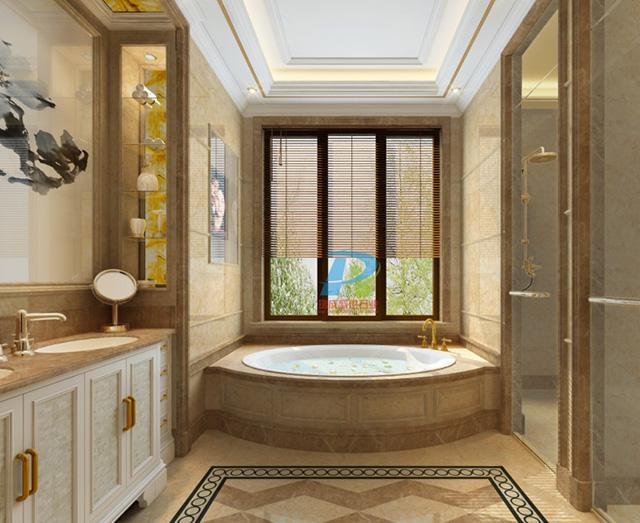 大理石浴室台面浴缸