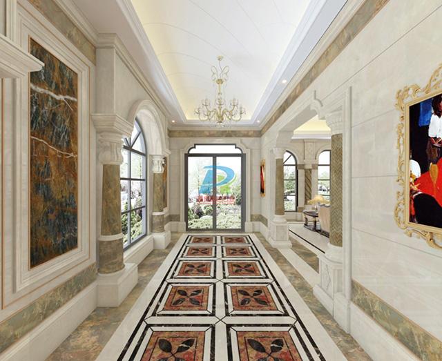 大理石地面走廊