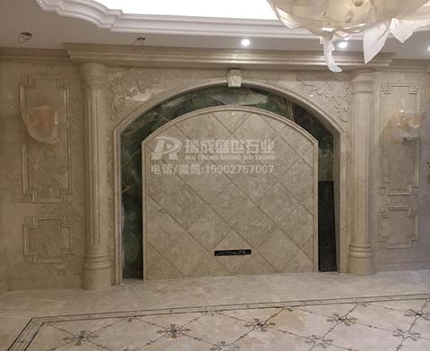 天然大理石背景墙,石材罗马柱