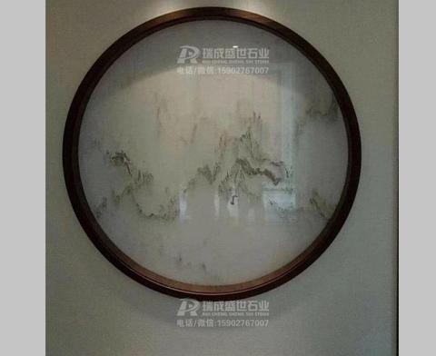中式风格大理石山水画背景墙