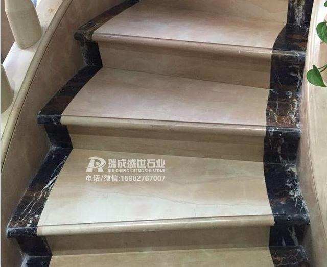 8款天然大理石楼梯实景