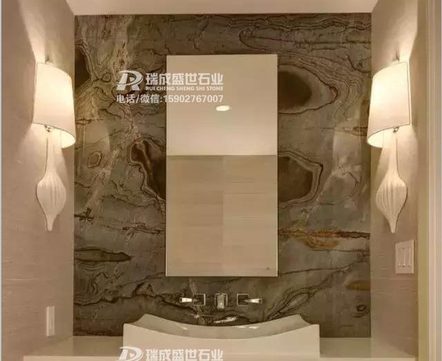 3款精美石材洗手间墙面台面