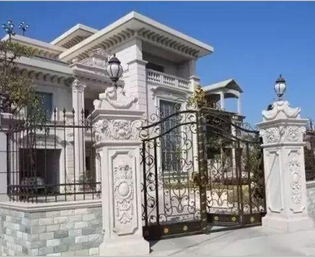 别墅石材围栏柱子大门36款