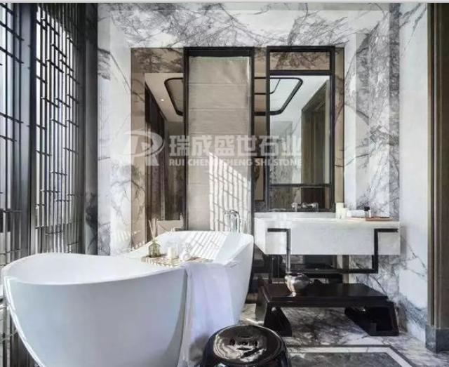 18款白色大理石洗手间