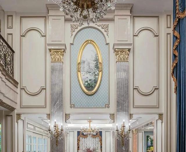轻奢典雅的法式大理石别墅