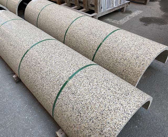 花岗岩圆柱拼接工艺